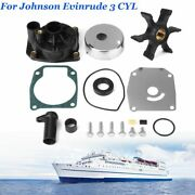 Water Pump Impeller Kit For Johnson Evinrude 3 Cyl 60 65 70 75 Hp 432955438591