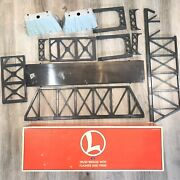 Lionel Trains 6-12772 Truss Bridge With Flasher And Piers 318