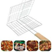Bbq Grilling Basket Steel Nonstick Barbecue Clip Grill Kitchen Tools N4a5