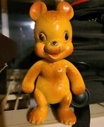 Rempel Bear Rubber Squeak Squeeze Toy 6 Hardened / Does Not Squeak