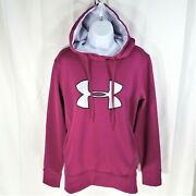 Under Armour Storm Cold Gear Hoodie Berry Red Pullover Womenand039s Size M Medium