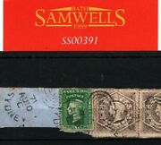 Australia States New South Wales Qv Stamps 6d Pair 3d Dated 1871 Cds Piece Ss391