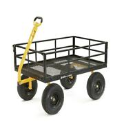 Gorilla Carts Heavy-duty Steel Utility Cart Removable Sides 1400 Lb Capacity New