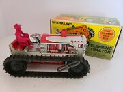 Vintage 1950's Marx Tin Litho 'sparkling Climbing Tractor' Wind-up Toy W/box 904