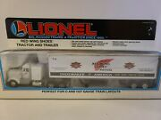 1995 Lionel Trains O Scale Die-cast Red Wing Shoes Tractor And Trailer 12923 Boxed