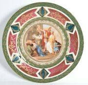 Antique Royal Vienna Style Czechoslovakia Plate After Giovanni Battista Painting