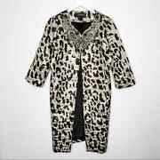 St. John Couture Leopard Crystal Jacket Topper