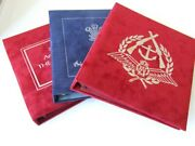 Benham Thematic Ring Stamp Albums With Plush Cover, Incl Royalty, Military, Raf