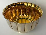 Vintage Bvlgari 925 Sterling Silver Miniature Gold Washed Bowl Dish Italy
