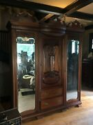 Very Large Antique Armoire From Friday Harbor Waandnbsp