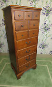Ethan Allen Lingerie Chest Country Crossings Cinnamon 227 On Maple Wood 17 5424