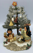Vtg Friends Of The Feather Christmas Tree Figurines Ornaments Enesco Sculpture