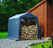 Shelterlogic 8and039 X 8and039 X 8and039 Shed-in-a-box All Season Steel Metal Peak Roof Outdoor