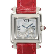 Chopard Watches 27/8892-21 Stainless Steel Leather Happy Sport Square Mini Used