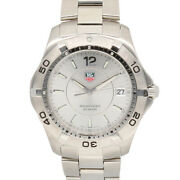 Tag Heuer Watches Waf 112 Silver Stainless Steel Aqua Racer From Japan Used
