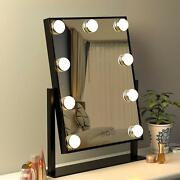 Fenchilin Small Vanity Makeup Mirror With Lights Movable Led Lighted 3 Colors