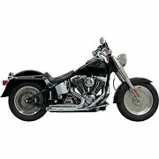 Pro Street Exhaust - Chrome - Slash Cut - And03986-and03917 Softail 1s24f