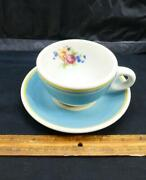 1950s Seaboard Railroad Orange Blossom Cup And Saucer Syracuse China Dining Car