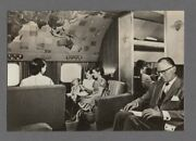 Klm Royal Dutch Airlines Super Constellation Club Lounge Airline Issue Postcard