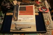 Vintage Nasa Space Shuttle Columbia Sts-2 Flown American Flag Certificate