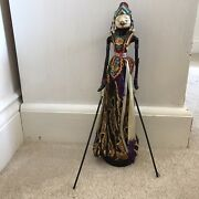 Vintage/ Antique Hand Carved And Painted Wooden Marionette Puppet Thai Indonesian