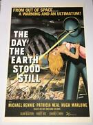 The Day The Earth Stood Still One Sheet Movie Poster Lithograph S2 Art Last One