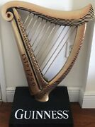 30andrdquo Guinness Wooden Harp Statue-rare Used Beer Liquor Bar Classic Store Old Sign