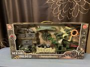 New Glory Bright Real Hero Light And Sound Military Rocket Launcher Jet Playset