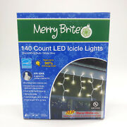 140 Count Led Icicle Lights Warm White Bulb 19and039 - Christmas/wedding/party/patio