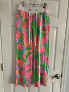 """Lilly Pulitzer Linen The Beach Pant """"so A Peeling"""" Size S Small"""