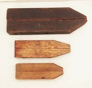 Vtg Antique Wood Wooden Woodworking Vise Clamp Tool Jaw Lot