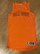 100 Authentic Team Game Issued New York Knicks Christmas Adidas L Jersey 2012
