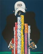 Waldemar Swierzy Hand Signed Full House World Series Of Poker Lithograph Coa S2