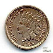 1862 Indian Head Cent Penny 1c Xf/au Better Date Civil War Issue Cb1