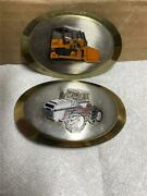 Two Vintage Case Machinery Belt Buckles