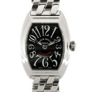 Franck Muller Watches 8005l Silver Black Stainless Steel Conquistador Used