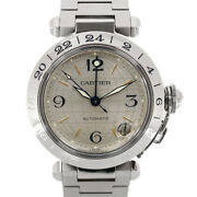 Watches Silver Stainless Steel Pasha C Meridian From Japan Used