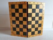 Soviet Vintage 1st Class Wooden Foldable Chess Checkers Board Table Ussr