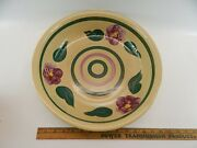 Rare Vintage Watts Oven Ware Usa Pottery Rio Rose 1940s Large 14 1/2 Bowl