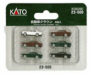 N Scale Toyota Crown Automobiles 6pcs 23-500 Free Shipping W/tracking New Japan