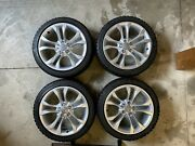 Audi A5 S5 Rim Oem/ronal And Tire Blizzak Winter Combo With Centers And Covers