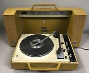 Vintage Ge Wildcat Portable Record Player Solid State Stereo V935g