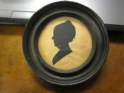Ca. 1820and039s Augustus Day Signed Stamp Antique Female Silhouette Rare Betsy Smith