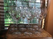 11 Quality Crystal Cristal D'arques Montlouis Gold 12 Oz Wine Water Glasses