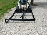 New 10 Bale On Edge Hay Grapple Hydraulic Skid Steer Attachment Can Ship