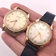Doxa Vintage Watches - Eta 1147 14k Solid Rose Gold Cases - Running - Watch Lot