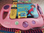 Leapfrog My First Leap Pad System Lot Pink And Purple W/ 4 Books And 3 Cartridges