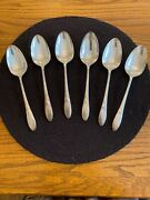 Community Silverplate Lady Hamilton Lot Of 6 Large Serving Spoons