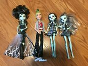 4 Monster High Ghouls Rule Frankie Stein Doll First Wave Deuce Gorgon Doll Lot