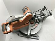 Ridgid E85575 15 Amp Corded 12in.dual Bevel Miter Saw Adjustable Laser Guide P M